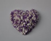 LILAC WHITE GYPSOPHILA / FORGET ME NOT BLOSSOM HEARTS Mulberry Paper Flowers